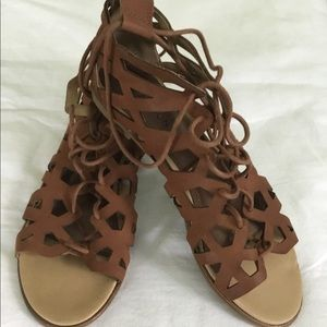 Kenneth Cole Reaction Brown Flat Tie up Flats 8.5